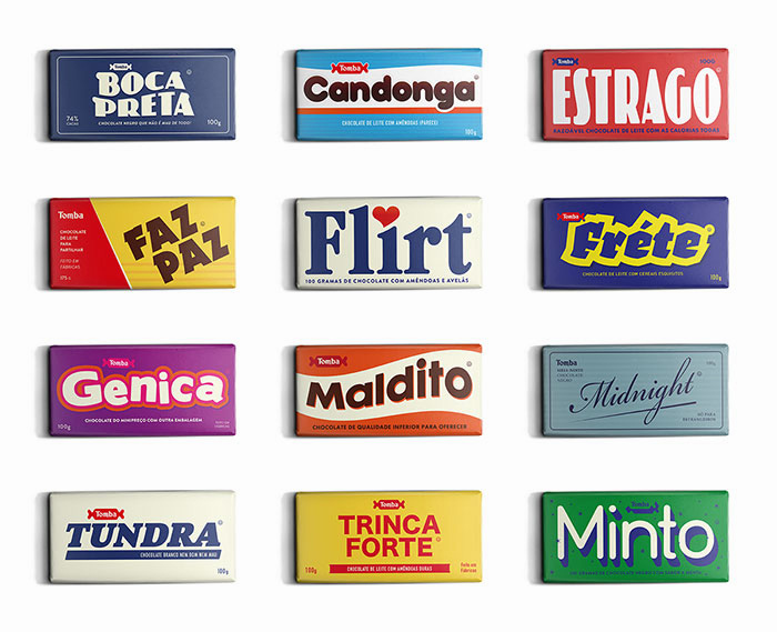 tomba lobos chocolate packaging