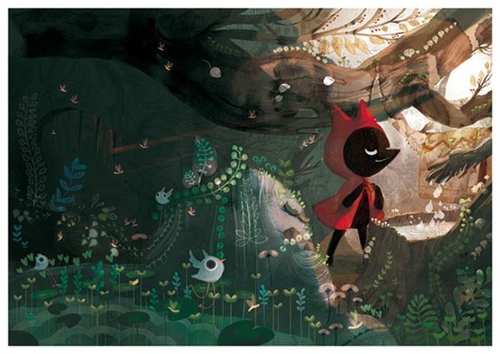 Amélie Fléchais - ilustraciones de Caperucita Roja