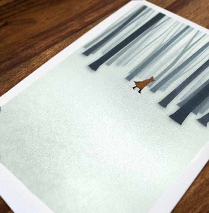 Ilustraciones de Belhoula Amir- Caperucita