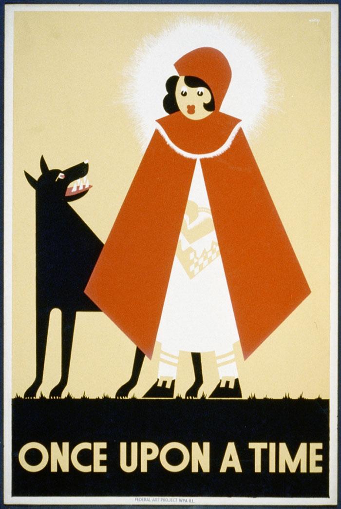 Poster Vintage Caperucita Roja