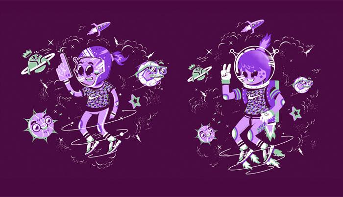 Ilustración para camiseta Nike