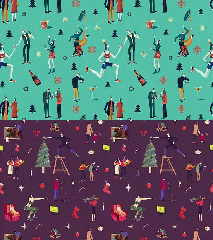 Pattern ilustrado para Nike