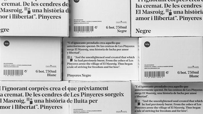 Packaging para botellas de vino Pinyeres