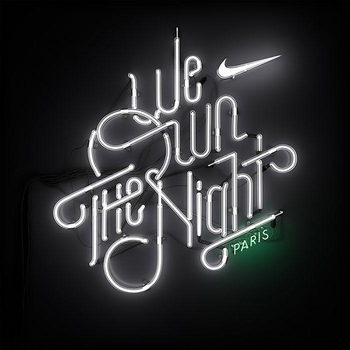 Lettering par carrera Nike Woman en PArís