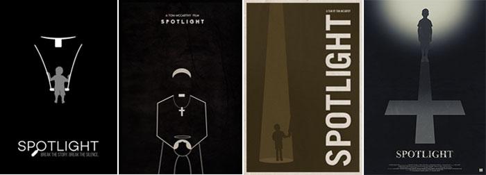 Pósteres alternativos para Spotlight
