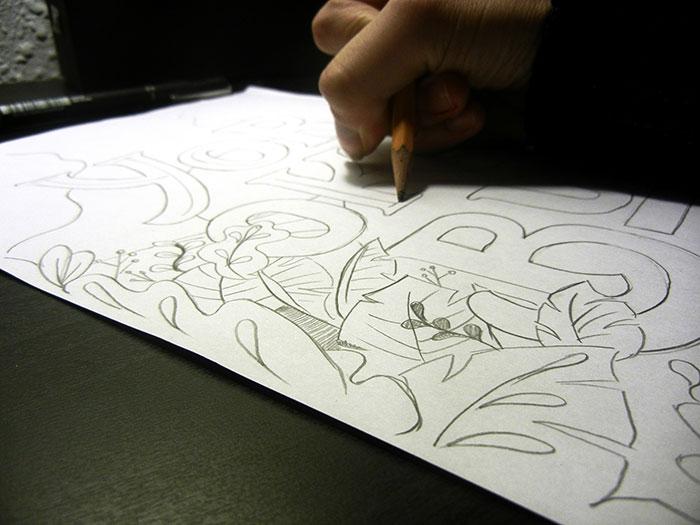 Boceto para el diseño de la portada ganadora de Yorokobu - Hazlo tú