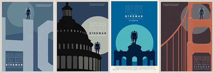 Series of alternative posters for birdman