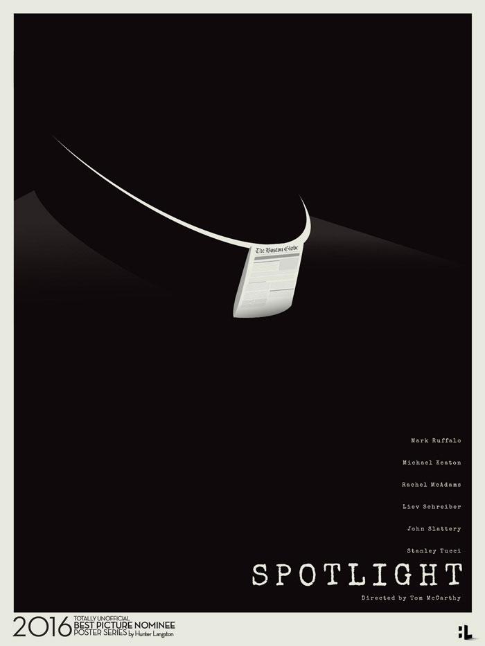 Hunter Langston alternative movie poster for Spotlight