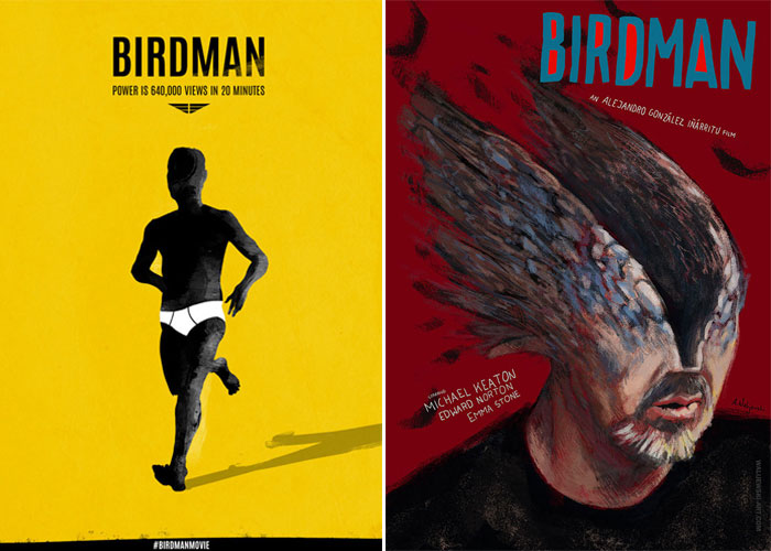 Alternative movie posters for Birdman