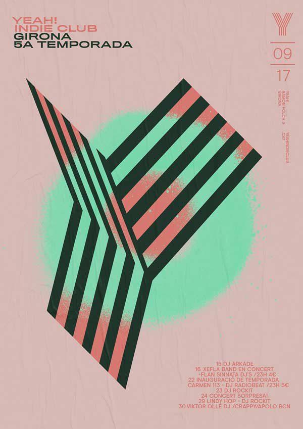 yeah!indie-club-poster-pink