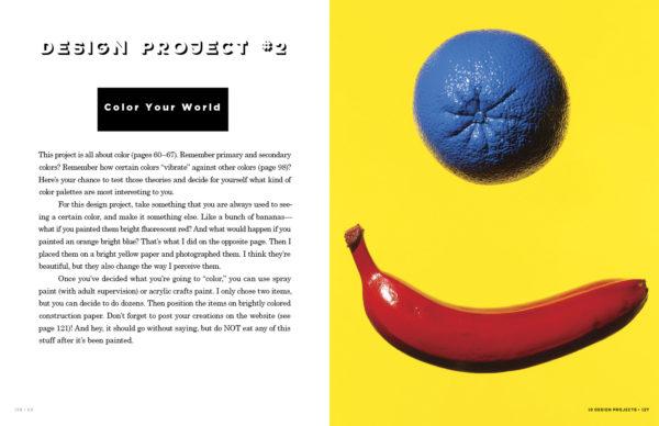 Pliego del libro Go: A Kidd's Guide To Graphic Design