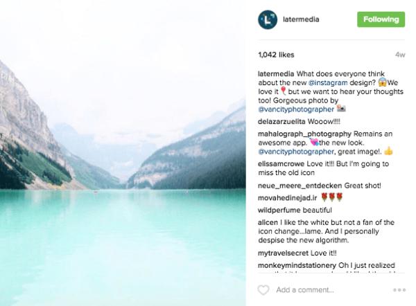 Ejemplo de llamada a la acción en el texto de un post de Instagram