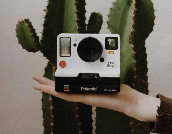 Cámara Polaroid antigua