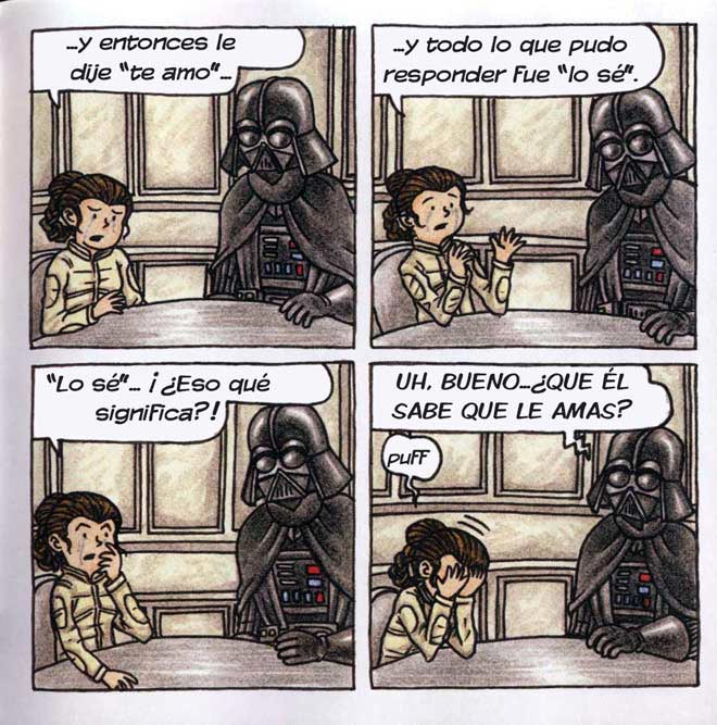 Darth Vader y su princesita de Jeffrey Brown