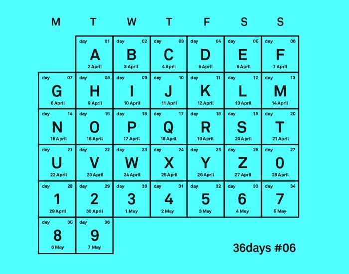 Cómo participar 36 days of type