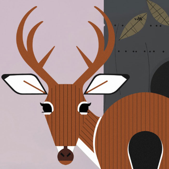 Charley Harper Animal Kingdom Ciervo