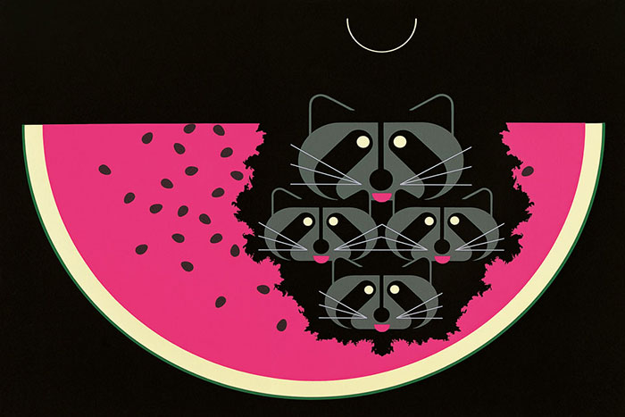 Charley Harper Animal Kingdom Mapaches