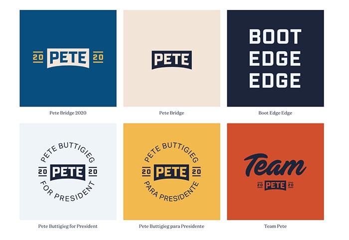 Pete Buttigieg diseño logo y campaña