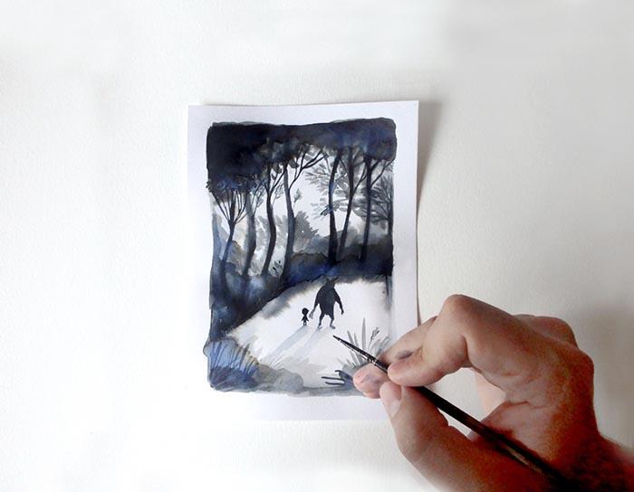 Adolfo Sera El bosque dentro de mí ilustrador