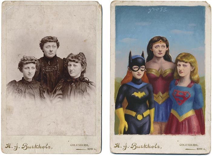 Alex Gross obras foto antigua wonder woman supergirl