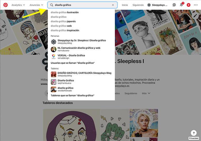 Cómo encontrar palabras clave para Pinterest