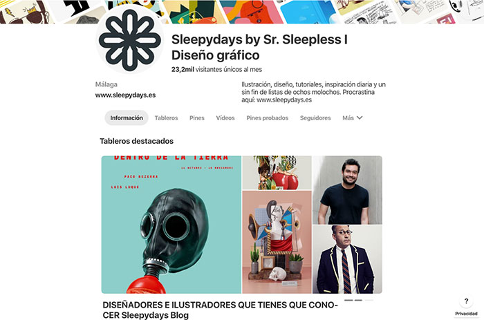 Pinterest como tableros destacados