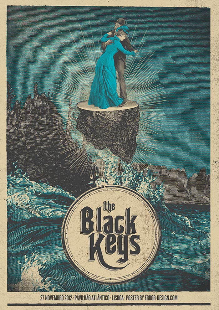 The Black Keys Error Design Xavi Forne carteles
