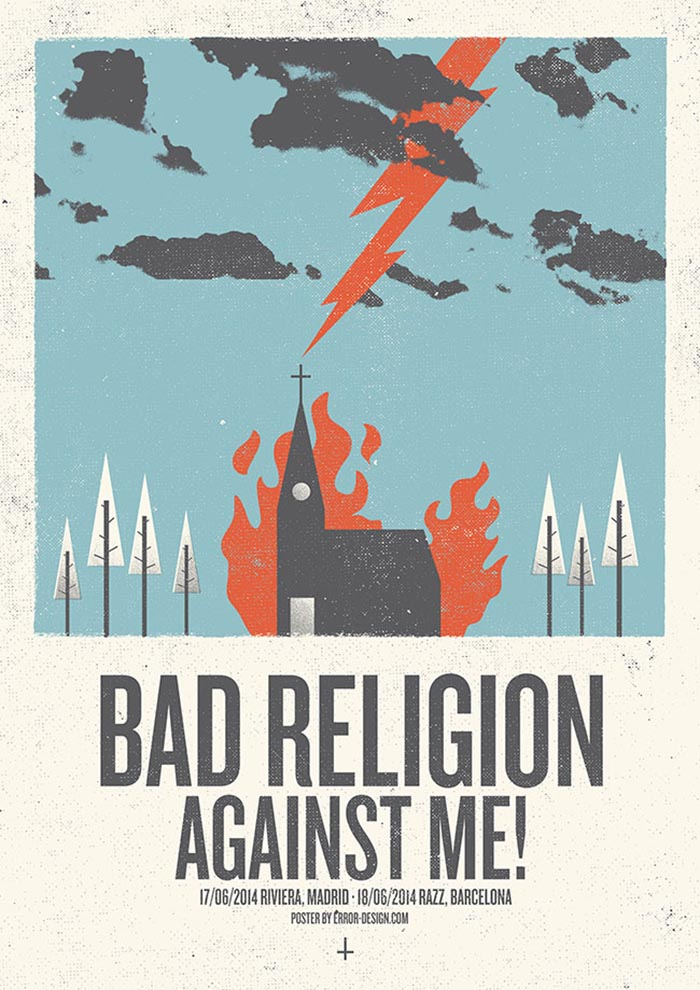 Error Design Xavi Forne carteles Bad Religion