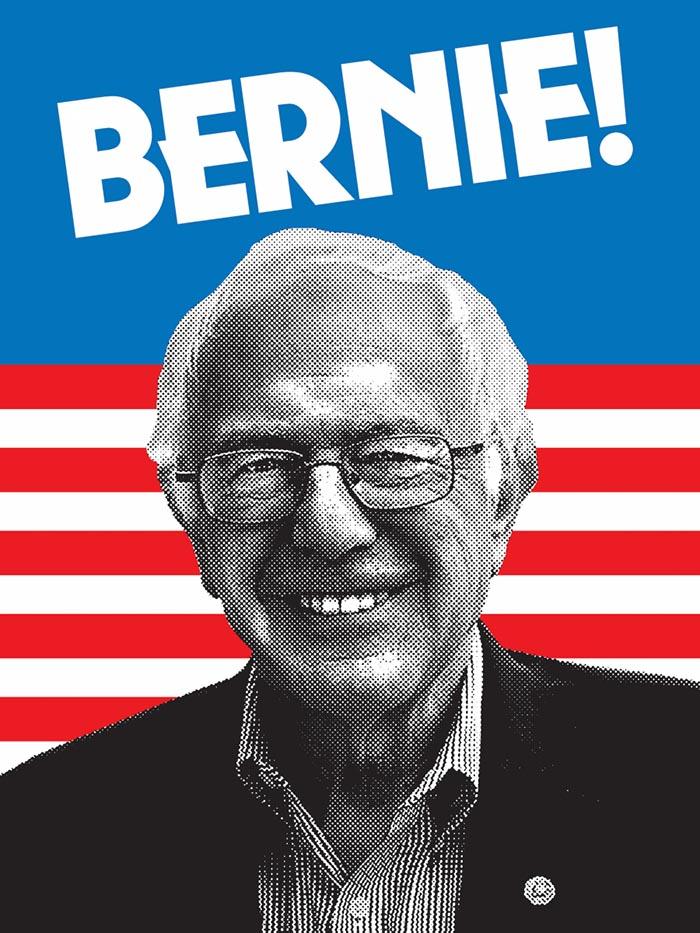Aaron Draplin Design poster Bernie