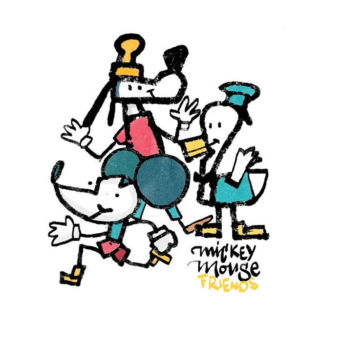 Concurso diseño ilustracion disney friends Enrique Marquez