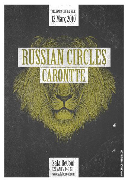 Error Design Xavi Forne carteles Russian Circles Carontte