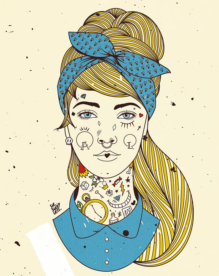 ilustración tatuajes mejores tatuadores españoles 2019 sr. sleepless
