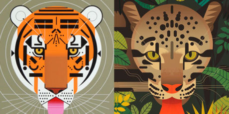 Charley Harper y Owen Davey ilustraciones