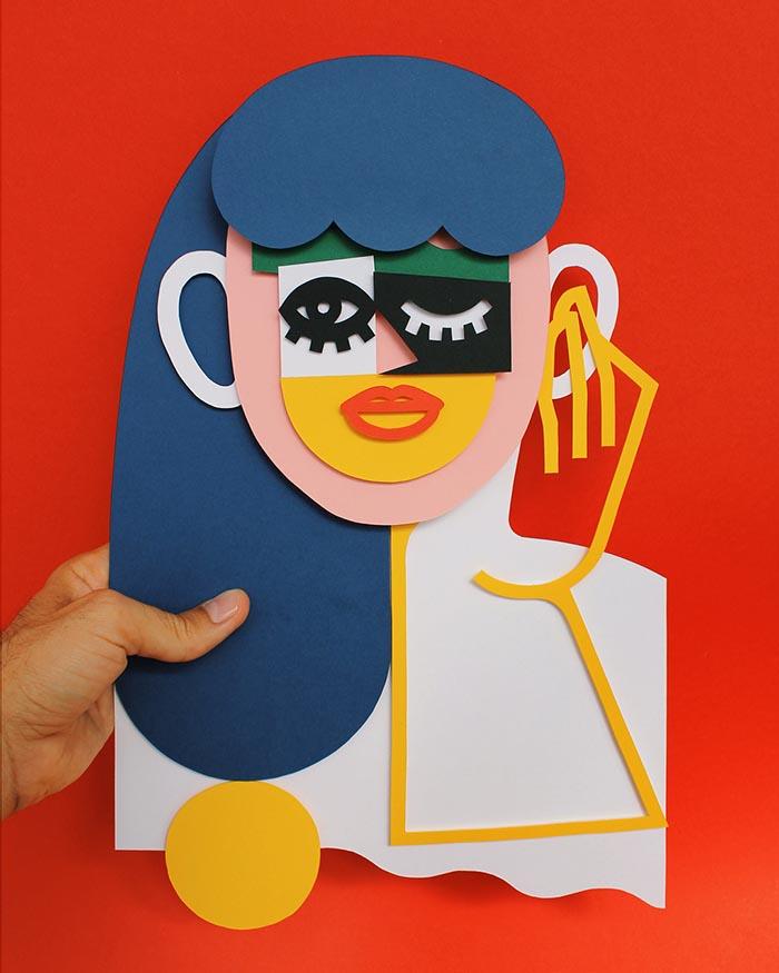 Jose A Roda Papercut ilustracion