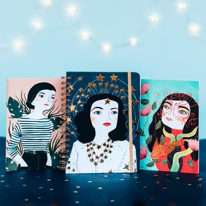 Mejores agendas feministas ilustradas 2019 Mujeres María Hesse