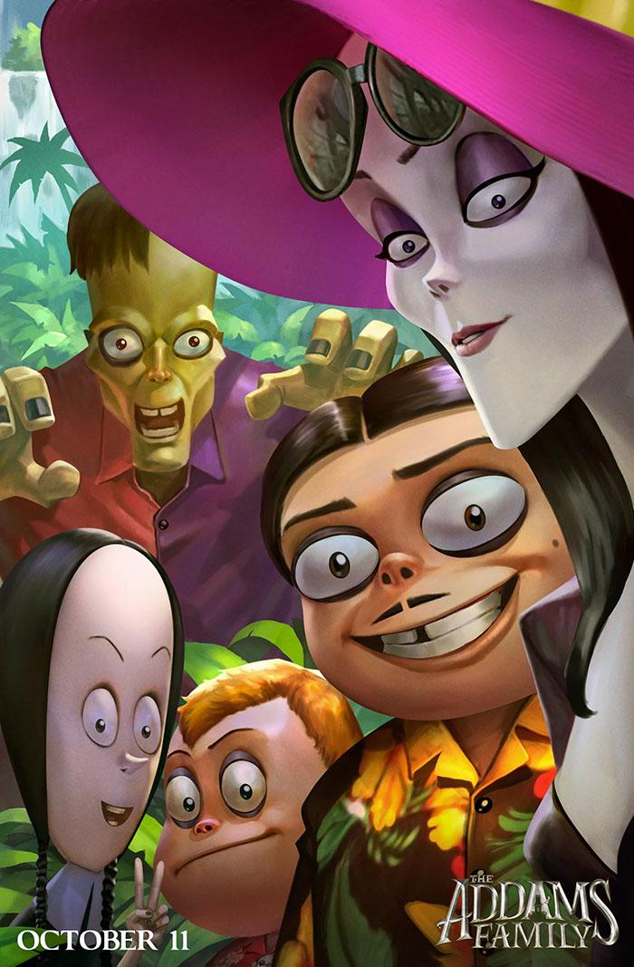 Ganadores concurso de ilustración Familia Addams