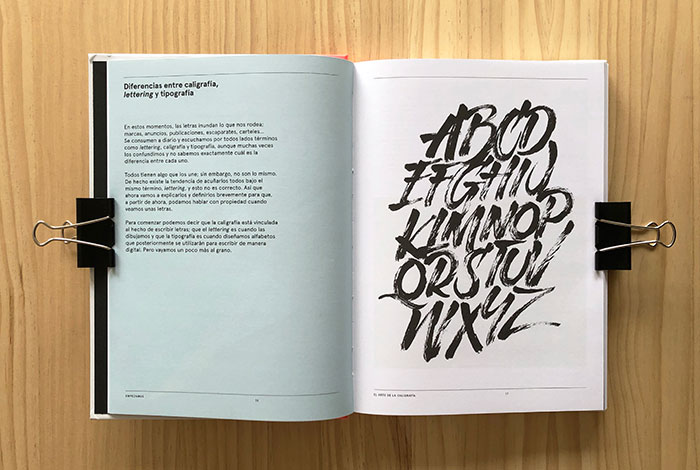 El arte de la caligrafía. Review del libro del calígrafo y letterer Iván Caíña.