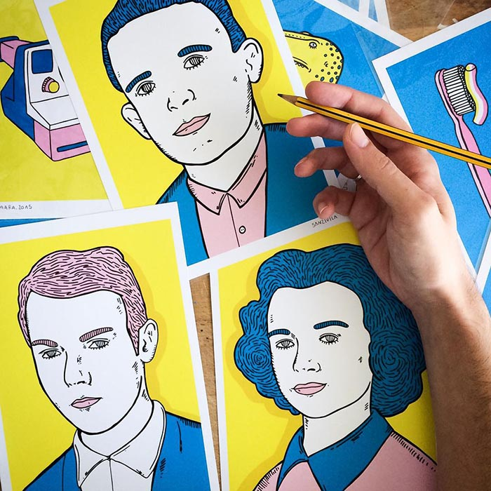 Sanz i vila ilustrador colores