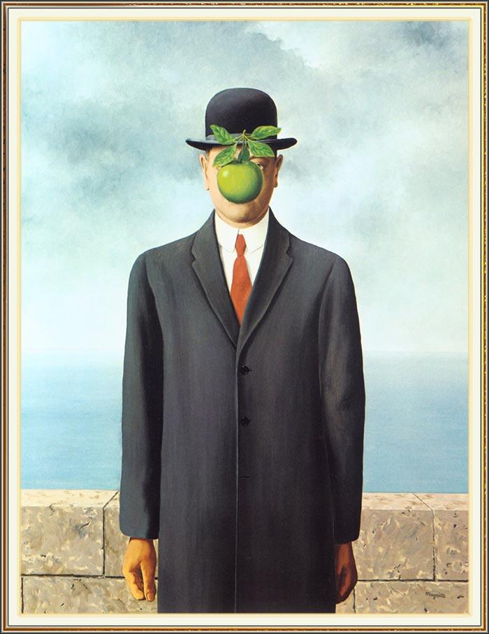 Disfraz halloween son of Man Rene Magritte fácil creativo DIY última hora original creativo