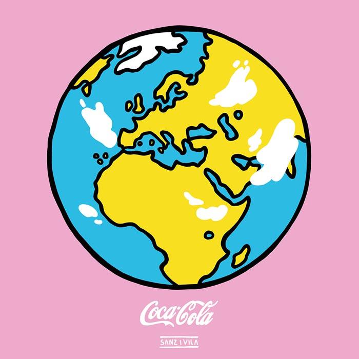 Sanz i vila ilustrador colores coca-cola