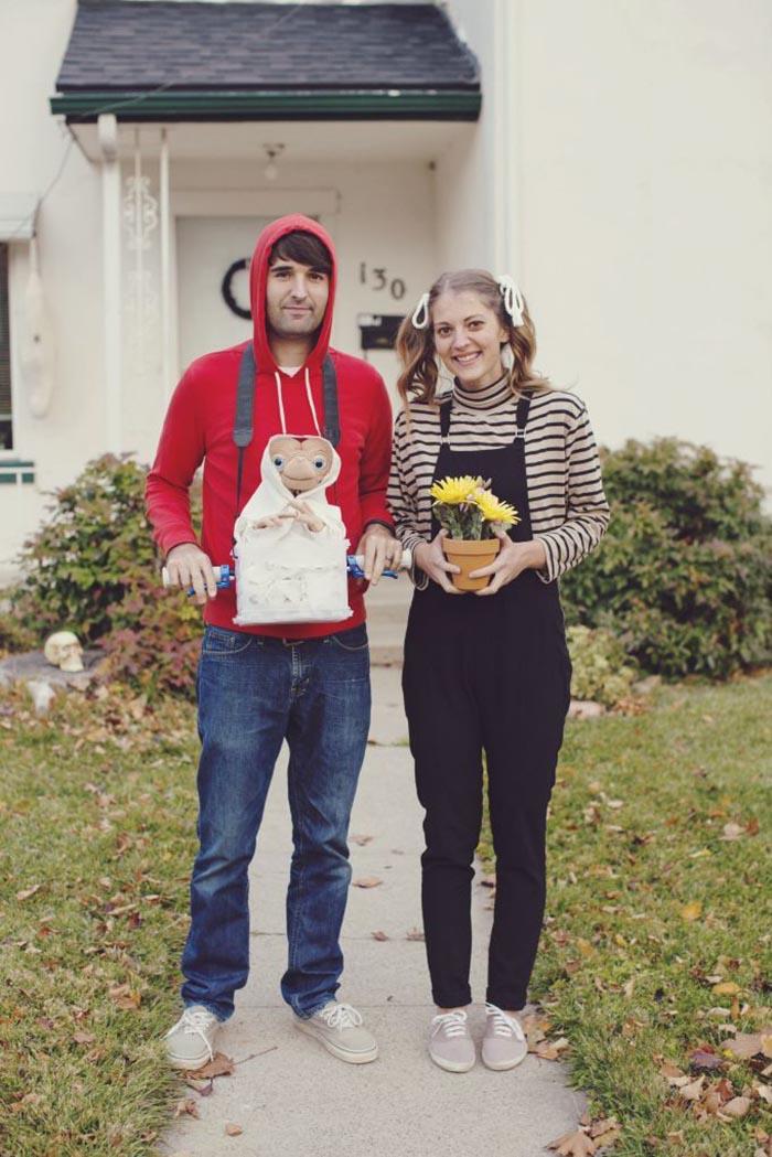 Disfraz halloween elliot y gertie E.T. fácil creativo DIY última hora original creativo