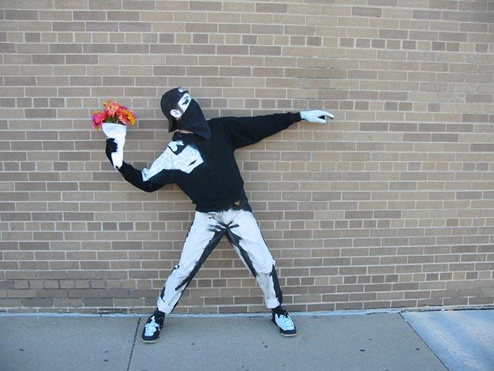 Disfraz halloween banksy grafitti fácil creativo DIY última hora original creativo