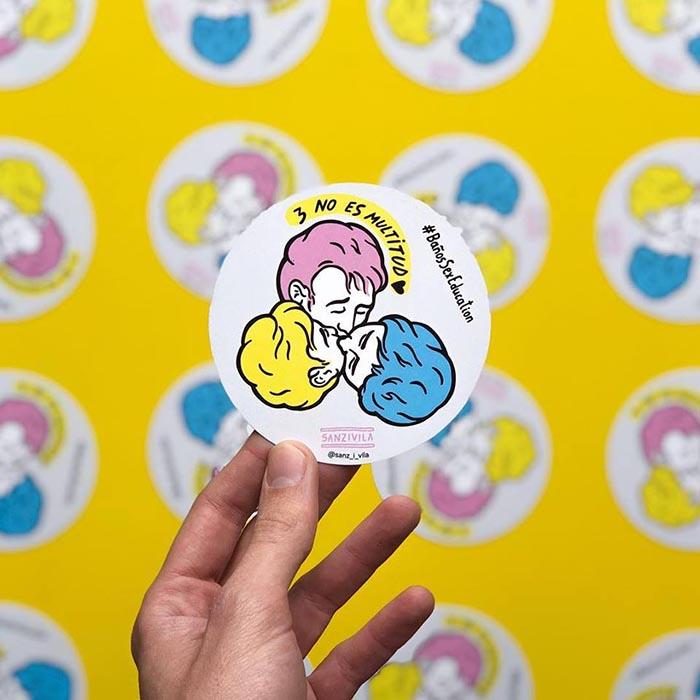 Sanz i vila ilustrador colores educación sexual baño