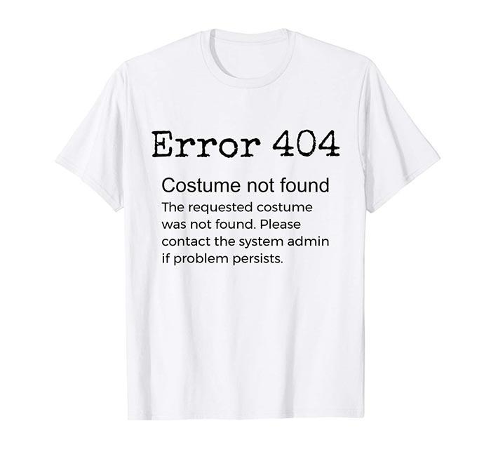 Disfraz halloween error 404 fácil creativo DIY última hora original creativo