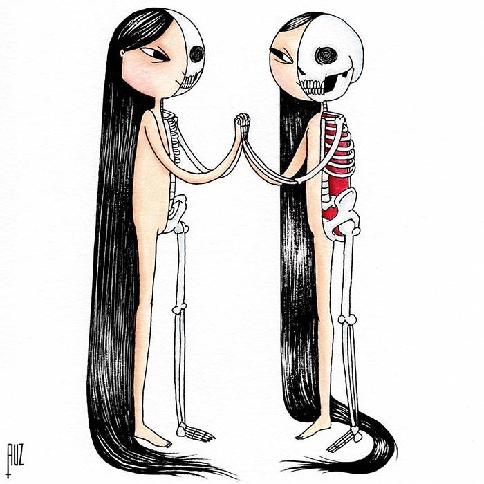 Muertosruz Dianne Ruz ilustradora mexicana día de muertos ilustración