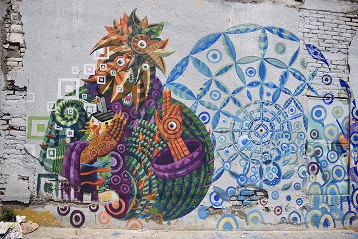 Obras del muralista y artista mexicano Raul sisniega le super demon