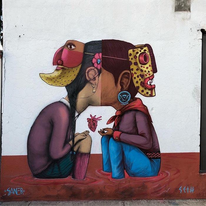 mejores artistas urbanos de México Saner arte callejero